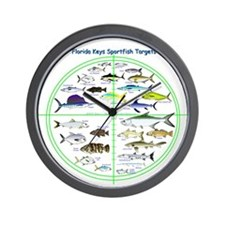Florida Keys Fish Targets Wall Clock