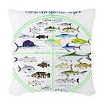 Florida Keys Fish Targets Woven Throw Pillow
