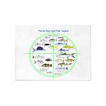 Florida Keys Fish Targets 5'x7'Area Rug