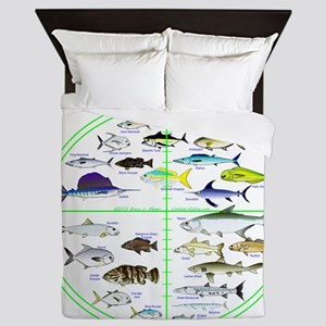 Florida Keys Fish Targets Queen Duvet