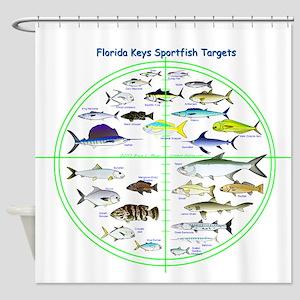 Florida Keys Fish Targets Shower Curtain