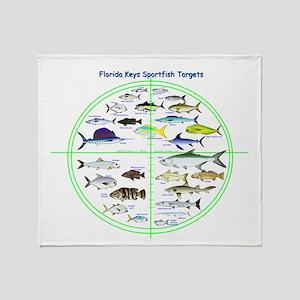 Florida Keys Fish Targets Throw Blanket