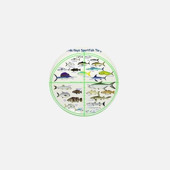 Florida Keys Fish Targets Mini Button