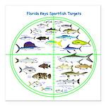 Florida Keys Fish Targets Square Car Magnet 3