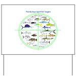 Florida Keys Fish Targets Yard Sign