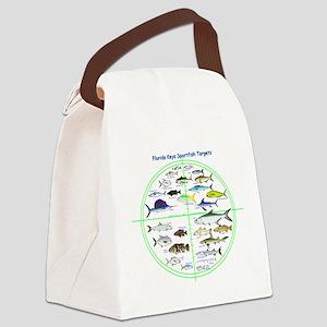 Florida Keys Fish Targets Canvas Lunch Bag