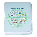 Florida Keys Fish Targets baby blanket