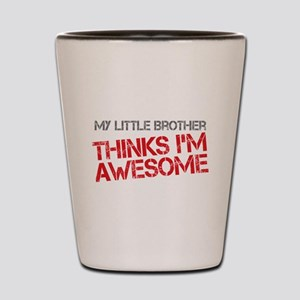 Little Brother Awesome Shot Glass