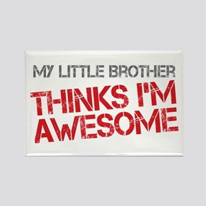 Little Brother Awesome Rectangle Magnet