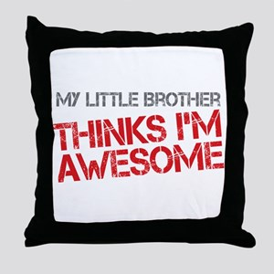 Little Brother Awesome Throw Pillow