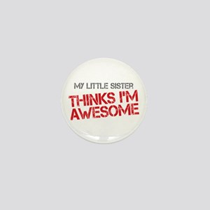 Little Sister Awesome Mini Button