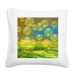 Golden Days Square Canvas Pillow