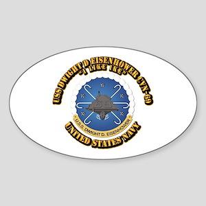 USS Dwight D Eisenhower CVN-69 Sticker (Oval)