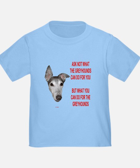 ASK NOT BLUE TODDLER TEE