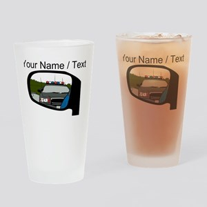 Cop In Rear View Mirror Drinking Glass