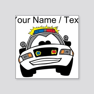 Cartoon Police Car Sticker