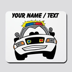 Cartoon Police Car Mousepad