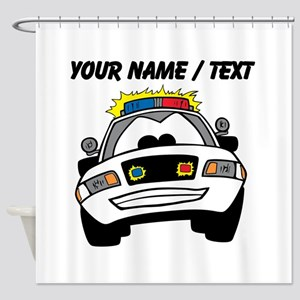 Cartoon Police Car Shower Curtain