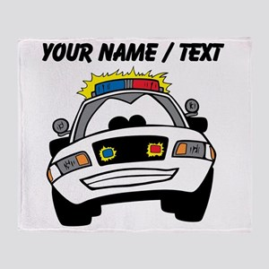 Cartoon Police Car Throw Blanket