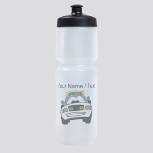 Cartoon Police Car Sports Bottle