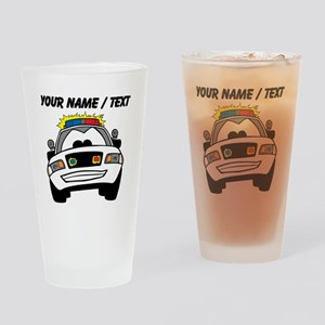 Cartoon Police Car Drinking Glass