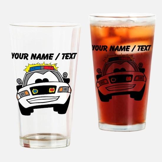 Cartoon Police Car Drinking Glass