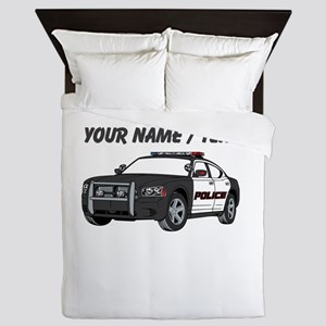 Police Cruiser Queen Duvet
