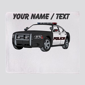 Police Cruiser Throw Blanket