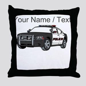 Police Cruiser Throw Pillow