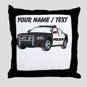 Police Cruiser Throw Pillow