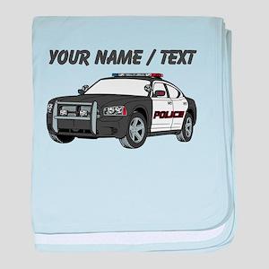 Police Cruiser baby blanket