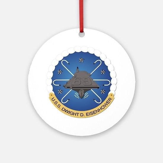 USS Dwight D Eisenhower CVN-69 Ornament (Round)
