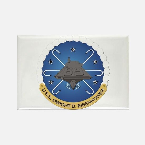 USS Dwight D Eisenhower CVN-69 Rectangle Magnet