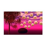 Burst of Joy, Abstract Magenta 35x21 Wall Decal