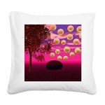Burst of Joy, Abstract Pink Square Canvas Pillow
