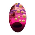 Burst of Joy, Abstract Pink 35x21 Oval Wall Decal