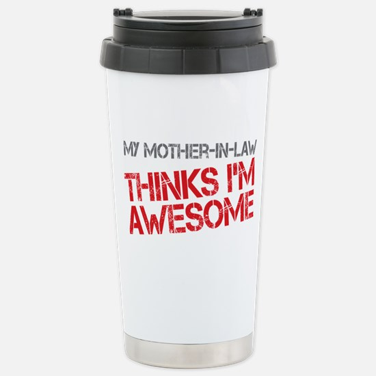Mother-In-Law Awesome Stainless Steel Travel Mug
