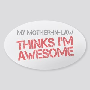 Mother-In-Law Awesome Sticker (Oval)