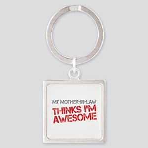 Mother-In-Law Awesome Square Keychain