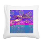 Tropical Morning Square Canvas Pillow