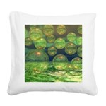 Spring Creation Abstract Square Canvas Pillow