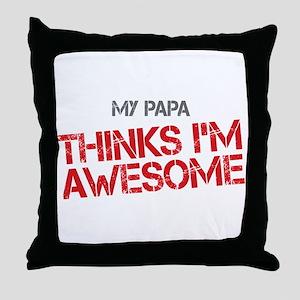 Papa Awesome Throw Pillow