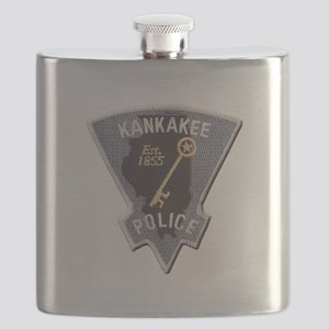 Kankakee Police Flask