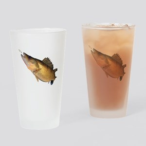 Walleye feeding Drinking Glass