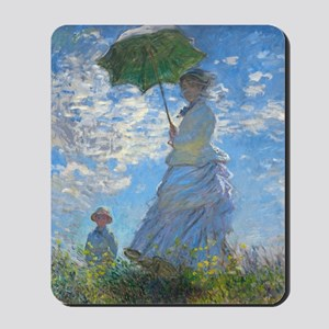 Woman with a Parasol by Claude Monet Mousepad