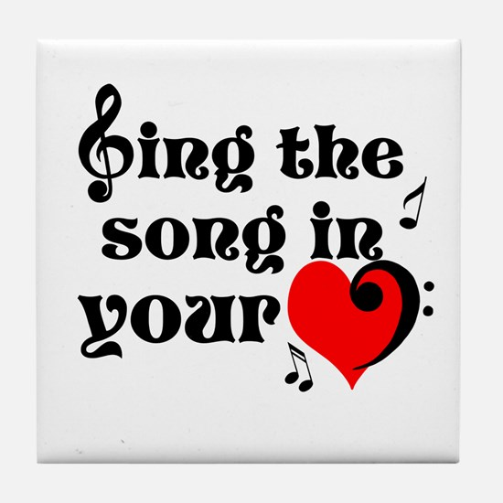 Music Lovers Quote Tile Coaster