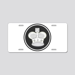 White King Chess Piece Aluminum License Plate