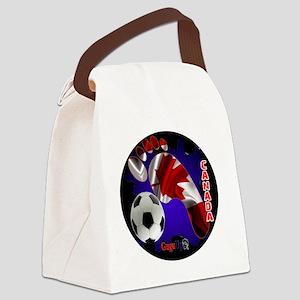 CANADA SOCCER CUSTOMIZABLE BRASIL Canvas Lunch Bag