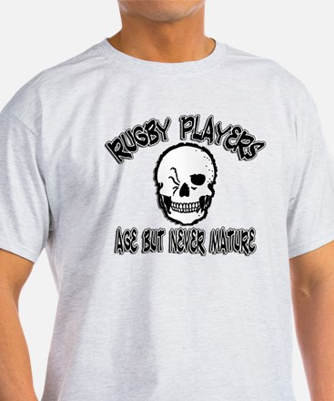 > Funny Rugby Players Never Grow Up T-Shirt