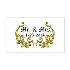 Mr. Mrs. Personalized dates Wall Decal